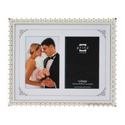 Prinz Two Opening Elegance Metal w/ Enamel Inlay and Jewels Picture Frame