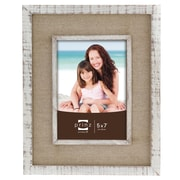 Prinz Shore Side Distressed with Linen Border Picture Frame; 5'' x 7''