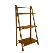 ZEW Bamboo 3 Tier Decorative 43'' Leaning Bookcase