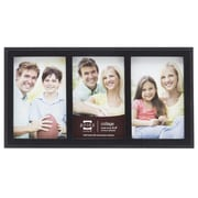 Prinz 3 Opening Sonoma Wood Picture Frame; Black