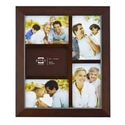 Prinz Five Opening Dakota Solid Wood Wall Picture Frame; Dark Walnut