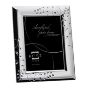 Prinz Whitley Silverplated Metal with Jewels Picture Frame; 5'' x 7''