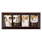 Prinz Four Opening Dakota Solid Wood Picture Frame; Dark Walnut