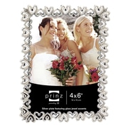 Prinz Heart To Heart Shiny Metal with Jewel Accents Picture Frame; 4'' x 6''