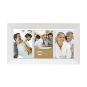 Prinz Three Opening Dakota Solid Wood Picture Frame; White