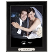 Prinz Newlywed 'Mr. & Mrs.' Styrene Wood Grain Picture Frame