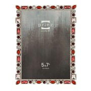 Prinz Armitage Metal with Drop and Square Shaped Jewels Picture Frame