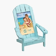 Prinz Easy Livin' Adirondack Style Wood Chair Picture Frame; Aqua