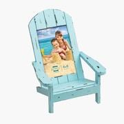 Prinz Easy Livin' Adirondack Style Wood Chair Picture Frame; Aqua