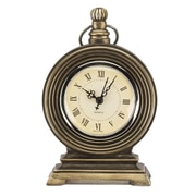 Prinz Mackenzie Resin Pocket Watch Clock; Antique Brass