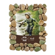 Prinz River Rocks Resin Picture Frame; 4'' x 6''