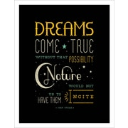3 Panel Photo Dreams Come True Textual Art Print on Wrapped Canvas; 11.5'' H x 8'' W x 1'' D
