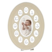 Prinz Thirteen Opening Oval Baby Resin Picture Frame; Natural