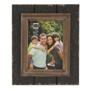 Prinz Parker Distressed Plank Picture Frame; Black