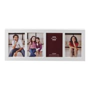Prinz 4 Opening Carolina Solid Wood Picture Frame; White
