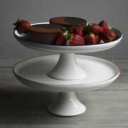 Canvas Home Abbesses Handmade Cake Stand; White/Red
