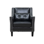 BestMasterFurniture Faux Leather Arm Chair; Black
