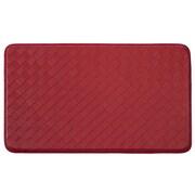 Chef Gear Weave Non-Skid Comfort Diamond Chef Mat; Red
