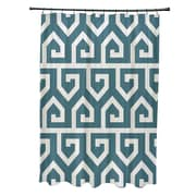 e by design Keyed Up Geometric Print Shower Curtain; Teal