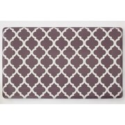 Chef Gear Comfort Quatrefoil Anti-fatigue Chef Mat; Chocolate / Ivory