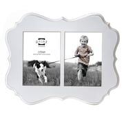 Prinz 2 Opening Annabelle Veneer Wood Picture Frame; White