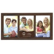 Prinz 3 Opening Sonoma Wood Picture Frame; Espresso
