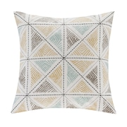 Ink + Ivy Zelda Embroidered Cotton Throw Pillow; Blue