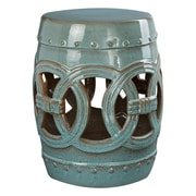 Abbyson Living Talia Stool; Teal