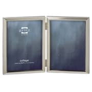 Prinz 2 Opening Empire Hinged Metal Picture Frame; 4'' x 6''