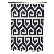 e by design Keyed Up Geometric Print Shower Curtain; Navy Blue
