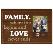 Prinz More Than Words 'Family' Wood Photo Plaque Picture Frame