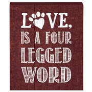 Prinz Talk To The Paw ''Love Is A Four Legged Word'' Box Textual Art Plaque