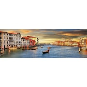 3 Panel Photo Gondola on The Canal Photographic Print on Wrapped Canvas; 24'' H x 72'' W x 1'' D