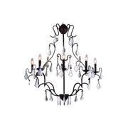 Elegant Lighting Charlotte 5 Light Candle Sconce; 43.5'' H x 33.5'' W x 30.5'' D