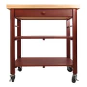 Catskill Craftsmen Roll About Kitchen Cart with Wood Top