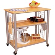 Catskill Craftsmen Contemporary Kitchen Cart with Butcher Block Top