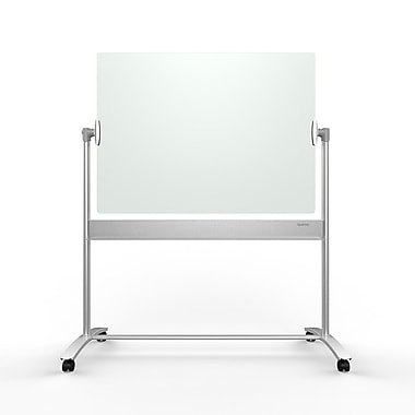 Infinity Glass Magnetic Dry Erase Mobile Easel, 4' x 3'