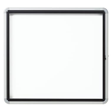 Euro Frame Enclosed Magnetic Whiteboard for Outdoor Use , Swing Door, 6-Sheets