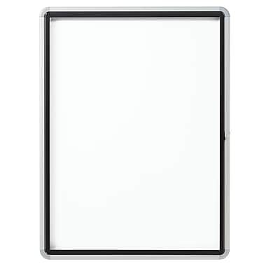 Euro Frame Enclosed Magnetic Whiteboard for Outdoor Use , Swing Door, 9-Sheets