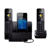 Panasonic® KX-PRD262B Single Line Cordless Telephone, Black