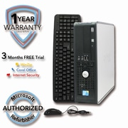 Refurbished Dell 760 Core 2 Quad-8200 2.33Ghz 4GB RAM 1TB Hard Drive Win 7 Pro