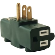 Axis 3-outlet Heavy-duty Grounding Adapter (green)