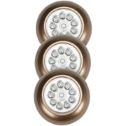 Light It! 9-led Anywhere Light Xb 3 Pk (bronze)