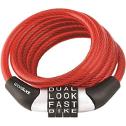 Wordlock Combination Non-resettable Cable Lock (red)