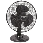 "Comfort Zone 12"" Oscillating Table Fan (black)"