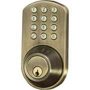 Morning Industry Inc Touchpad Electronic Dead Bolt (antique Brass)