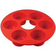 Orka 6-mold Silicone Muffin Pan, Set Of 2 (red)