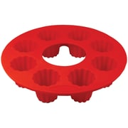 Orka 8-mold Silicone Cannele Pan, Set Of 2 (red)
