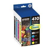 Epson 410 Color Ink Cartridges, C/M/Y and Photo Black 4-Pack (T410520)