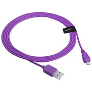 Insten® 6' Micro USB A/B 2-in-1 Cable, Purple